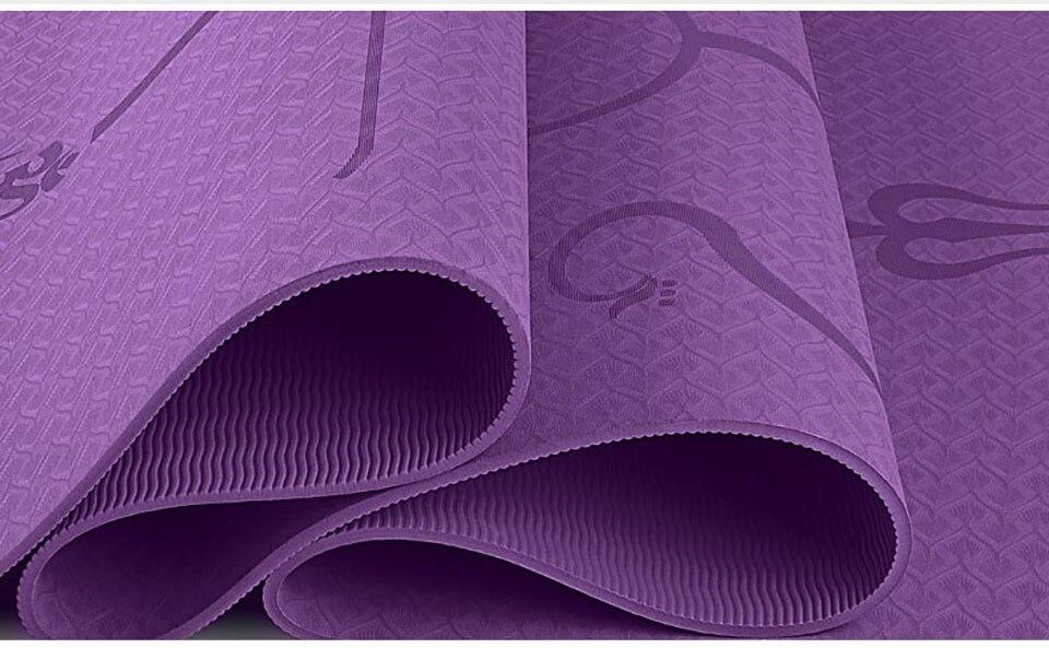 Tpe 183*61cm esteira de yoga ginásio com