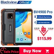 Blackview BV4900 Pro IP68 Robuuste Telefoon 4Gb 64Gb Octa Core Android 10 Waterdichte Mobiele Telefoon 5580Mah Nfc 5.7 Inch 4G Mobiel