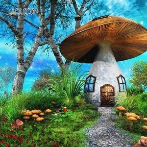 Image 5 - Laeacco Wonderland Fairy Taleเห็ดป่าการถ่ายภาพพื้นหลังเด็กวันเกิดฉากหลังPhotophone Photocall Photo Studio