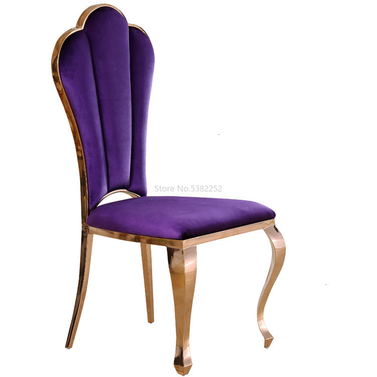 Stainless Steel Chair Wholesale Gold Velvet Dining Chair Can Be Customized European Hotel Dining Chair Banquet Leisure Chai
