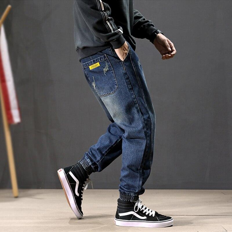 Moda Streetwear Hombre Jeans Sueltos Ajustados Diseno Cargo Pantalones Harem Jeans Holgados Hip Hop Pantalones Vaqueros Rasgados Hombres Joggers Pantalones Vaqueros Aliexpress