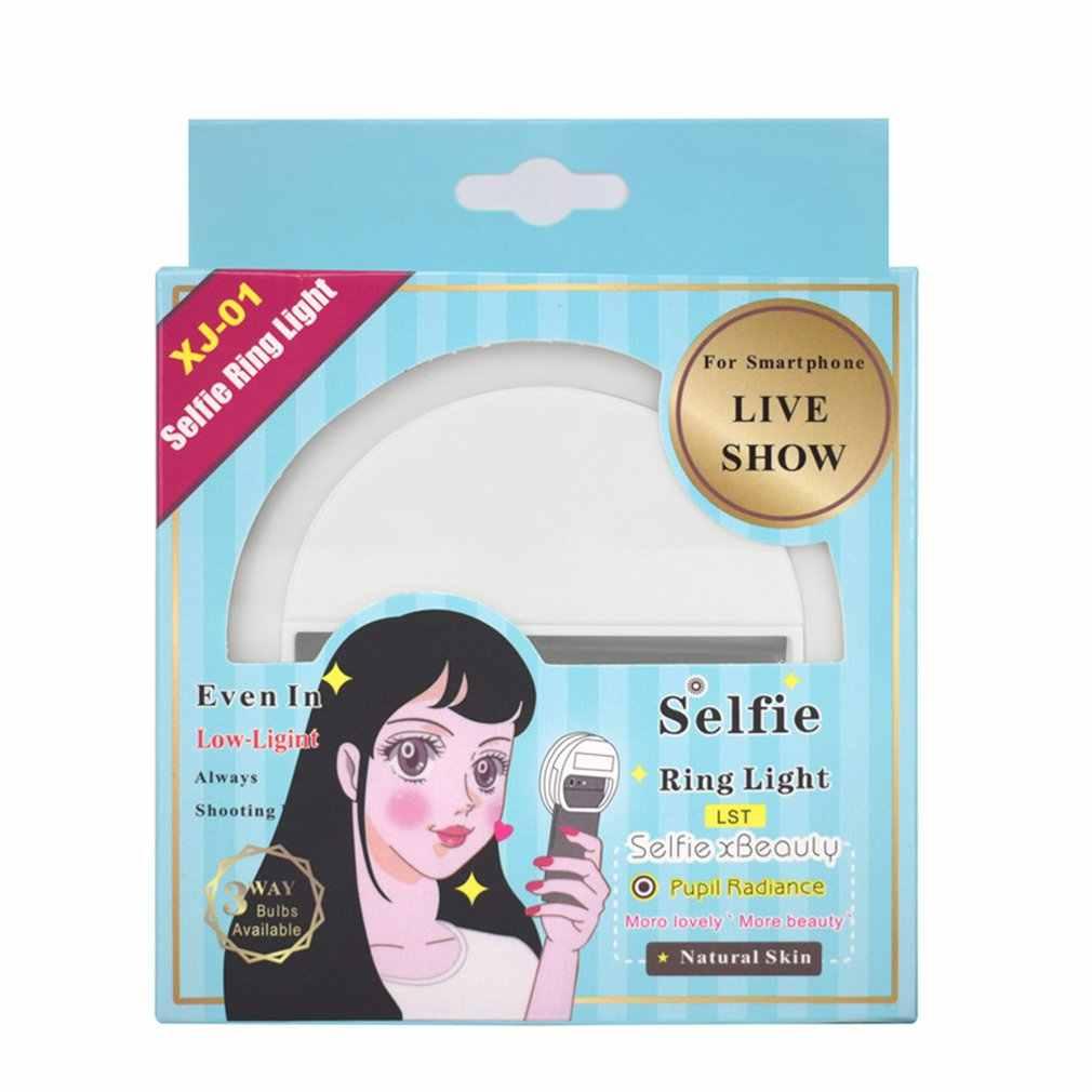 Điện thoại Di Động Mini Selfie Flash Vòng ống kính vẻ đẹp Lấp Đầy Ánh Sáng Đèn Di Động Kẹp cho Hình Máy Ảnh Dành Cho Điện Thoại Smartphone