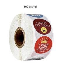 500 pcs/roll stickers planner round stationery for encourage children children's day gift decoration sticker