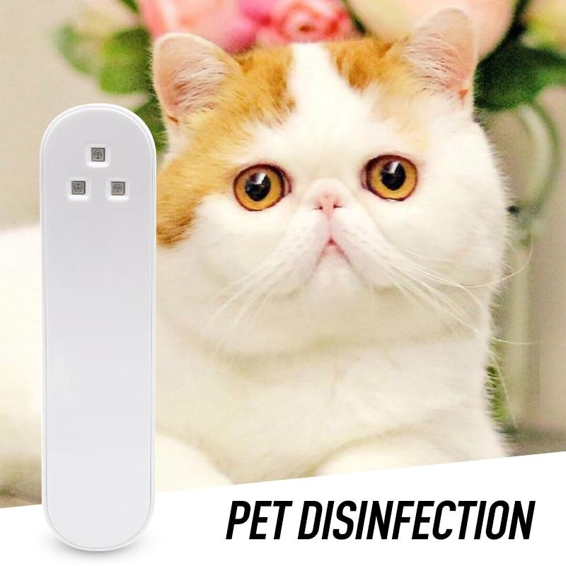 3LED UV Germicidal Lamp Portable Household Car Toothbrush Pet UV Sterilization Lamp Handheld Disinfection Stick UVC Sterilizer