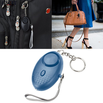For Girl Women Elderly Portable Emergency Personal Security Alarms Self-Defense 130 Decibels LED Light Safety Key Chain Pedant 2