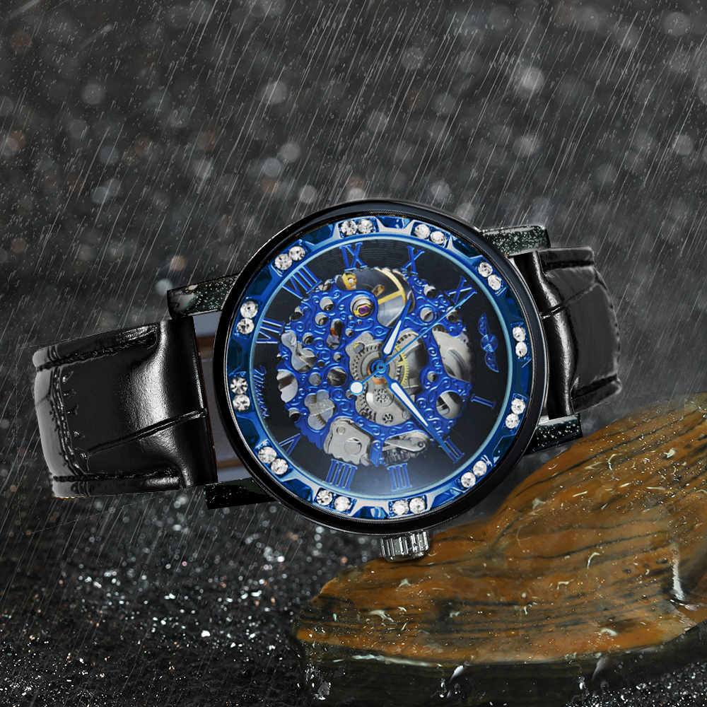 H0f3f58fdc3d94015bf9f70c0f493ea614 WINNER Fashion Business Mechanical Mens Watches Top Brand Luxury Skeleton Dial Crystal Iced Out Wristwatch Hot Sale Clock 2019