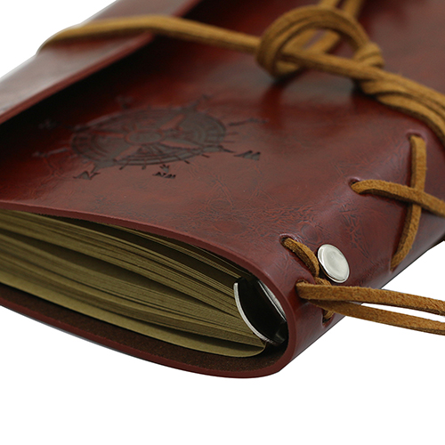 Retro Anchors Faux Leather Cover Notebook Journal Traveler Book Diary Blank