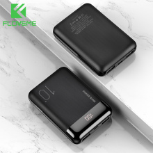 FLOVEME Mini Power Bank 10000mAh LED Display Powerbank For X