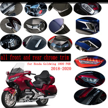 For Honda Goldwing Gold wing 1800 Tour F6B GL1800 lights Cover Accessory Windshield Front Rear Chrome Trim 2018 2019 2020