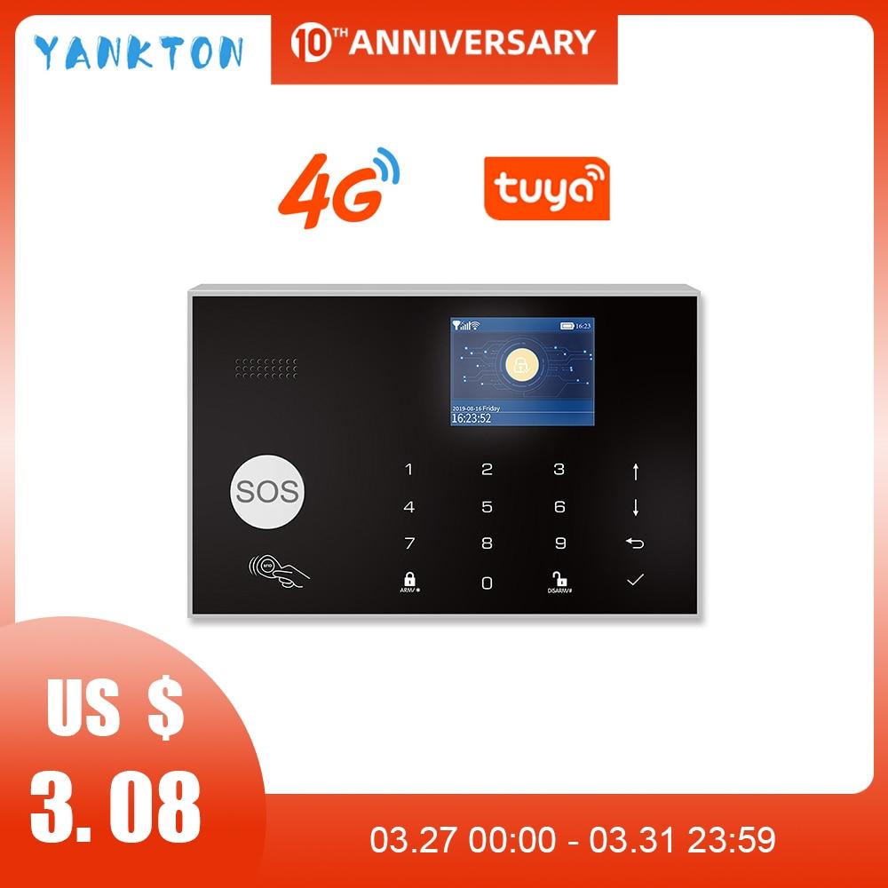Tuya 433MHz 3G&4G WiFi Wireless Home Security&Burglar Alarm System With PIR Motion Sensor/Door Sensor/Siren Support Android&iOS