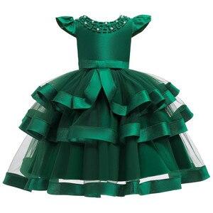 Image 2 - 夏の子供のドレス子供刺繍レースのため 2 3 4 5 6 7 8 9 10 歳の誕生日パーティードレス