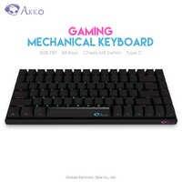 Original AKKO 3084 clavier de jeu mécanique côté lettres cerise MX commutateur 85% PBT 84 touches ordinateur Gamer USB filaire Type C