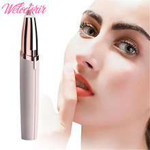 Electric Eyebrow Trimmer Women Mini Eyebrow Shaver Instant Painless Face skin care tools Brows Hair Remover Epilator Portable mini electric eyebrow trimmer ear eyebrow trimmer for women personal electric face care portable shaver razor epilator