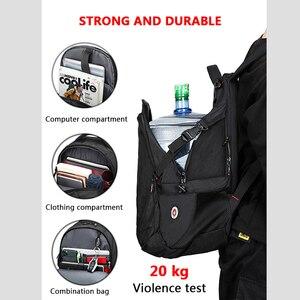 Image 2 - Anti thief USB Charging Laptop Backpack Men Oxford bagpack Waterproof Travel Backpack Vintage School Bag 15/17inch Male Mochila