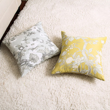 Fashion Countryside Modern Pillow Cover Plant Flower Pattern Throw Cushion Bedroom Sofa Art Home Decor Drop Shipping 45*45