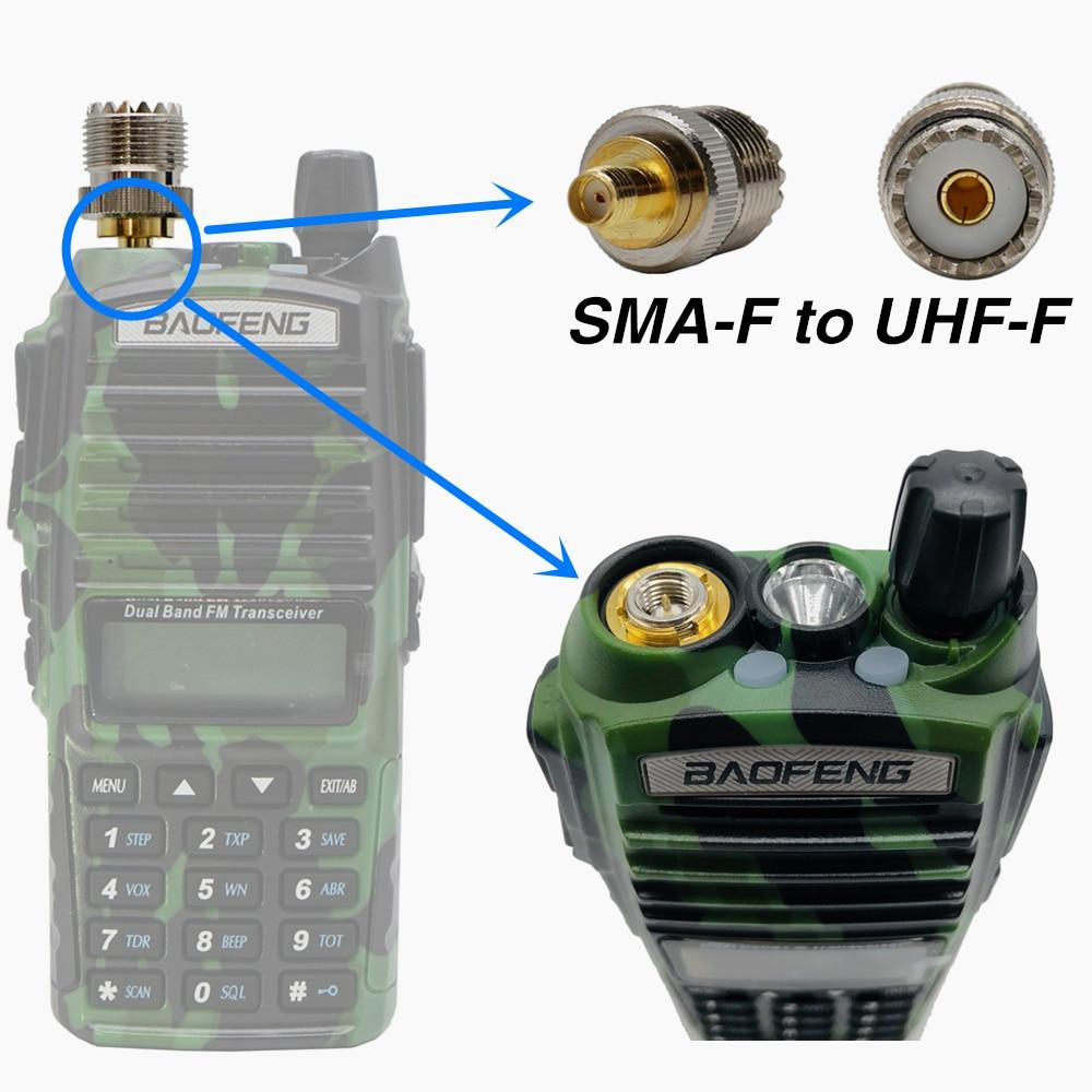 Radio RF Coaxial Adapter Connector Fine Copper PL259 Converter Coax Connectors SMA Female To UHF Female Copper Connector Adapter