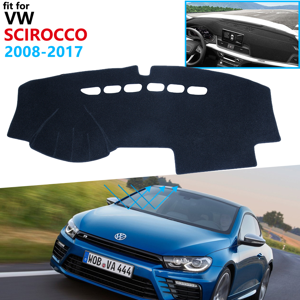 Dashboard Cover Protective Pad For Volkswagen VW Scirocco 2008~2017 Car Accessories Dash Board Sunshade Carpet 2010 2015 2016