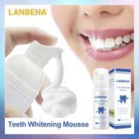 LANBENA dents blanchissant Mousse dentifrice dentaire hygiène buccale enlever les taches Plaque dents nettoyage dent blanc outil nouvelle Version