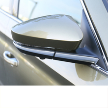 Lsrtw2017 Abs Car Rearview Strip Holder Trims for Skoda Kodiaq Karoq Interior Mouldings Accessories