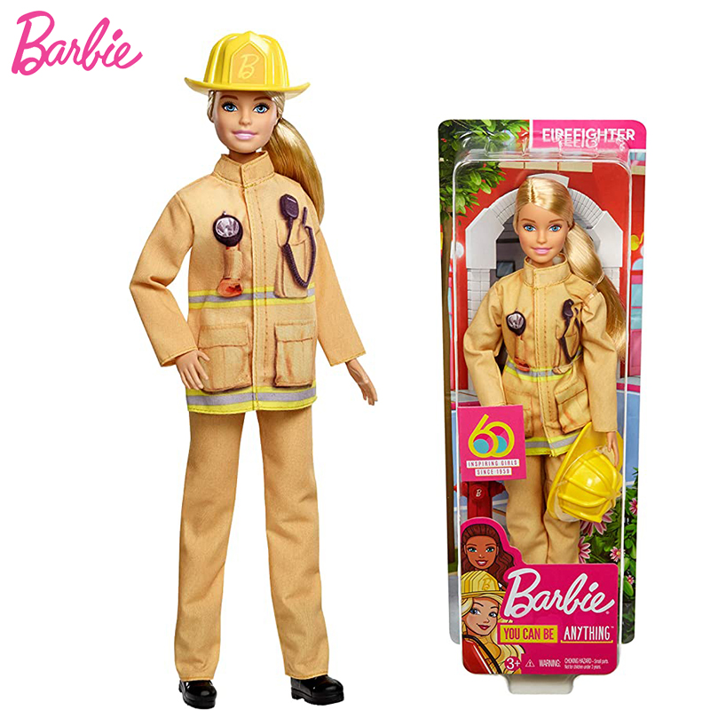 Original Fashionista Barbie Dolls career Firefighter Toys for Girls Assortment Fashion Dolls Kids Bonecas Toys Birthday Gifts