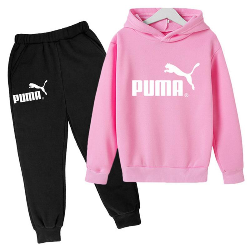 3-14y meninas coleção de roupas 2021 outono/inverno da criança meninas roupas crianças marca calças esportes menino conjunto