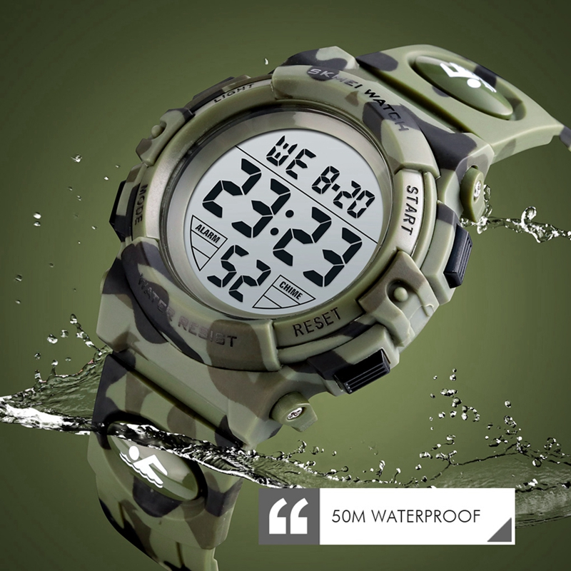 SKMEI Children Watch Digital LED Girls Boys Sports Watches Waterproof Fashion Students Wristwatch Relogio Infantil Montre 1548