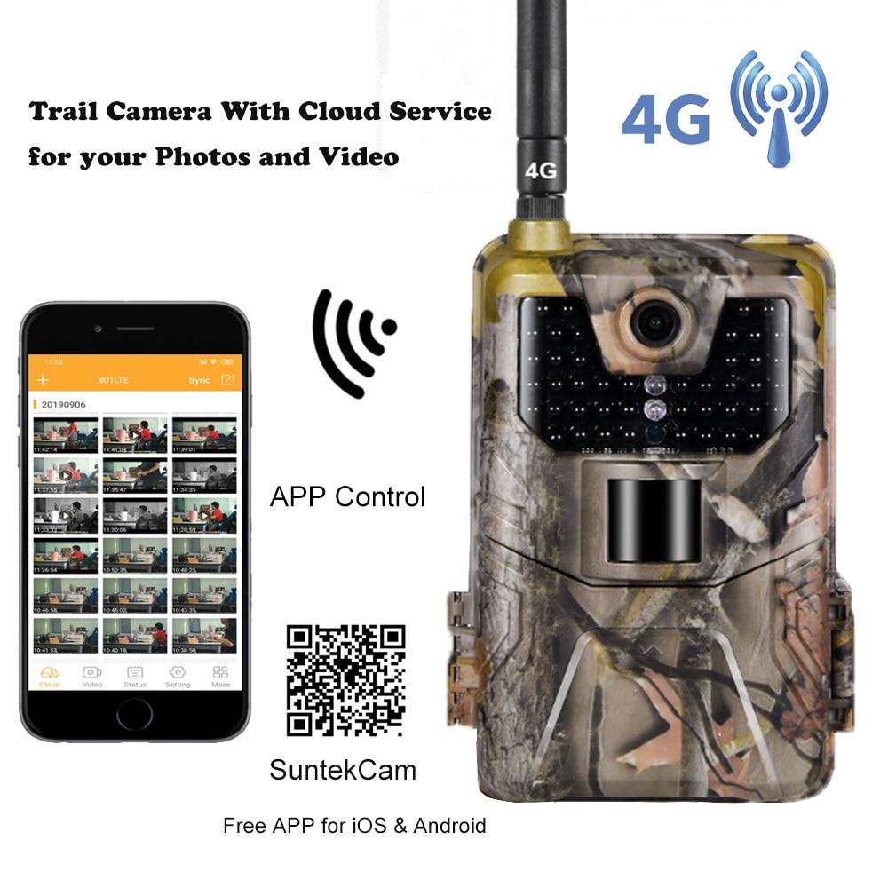 Приложений в прямом эфире Trail Камера облако Услуги 4G 4K Сотовая связь мобильный охотничьи камеры для съемки дикой природы Камера s 30MP Беспров...
