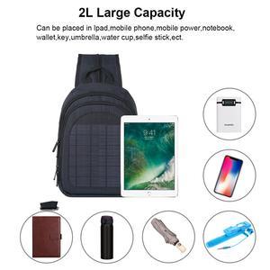 Image 4 - Haweel 5W Solar Panel Men Backpack Powered Backpack Usb Charging Anti Theft Laptop Travel Backpacks for Men Canvas Bagpack