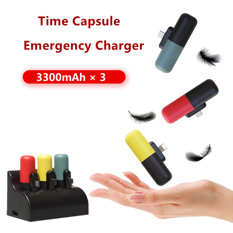 Mini Capsule Family Shared Power Bank Station For Xiaomi Powerbank for iPhone Samsung Huawei Portable Poverbank Battery Charger