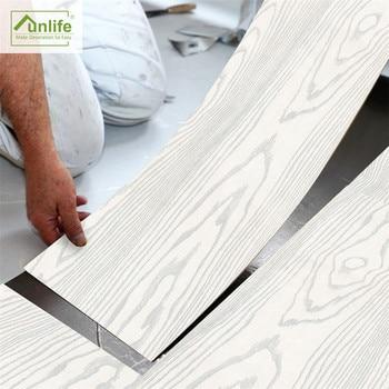 De plata arena papel pintado madera sala de oficina dormitorio renovación auto-adhesivo antideslizante piso adhesivo Mural decoración de pared
