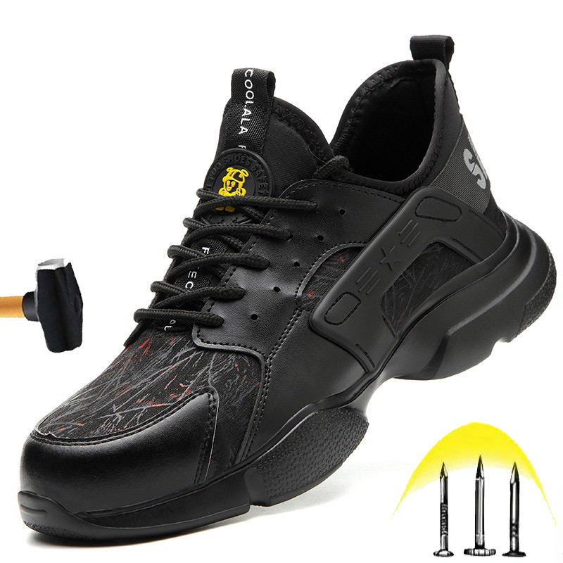 Hot Sale New Non-slip Safety Shoes 2020 Fall Men's Anti-smashing Steel Toe Cap Fashion Work Shoes Lightweight Breathable Insulation Shoes