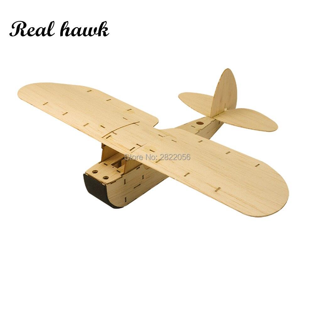 Balsawood Free Flight Airplane ZYO-6 Wood Plane Model Boys Christmas Gift
