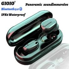 TWS L13 Mini bezprzewodowe słuchawki wodoodporny IPX6 redukcja szumów kolorowy wyświetlacz dla Oppo Huawei Iphone słuchawki Bluetooth Xiaomi