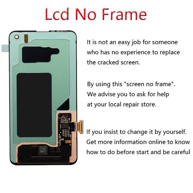 100% original display lcd para samsung galaxy s10e s10 display lcd g9730 s10 + mais display g9750 tela de toque digitador assembléia 3