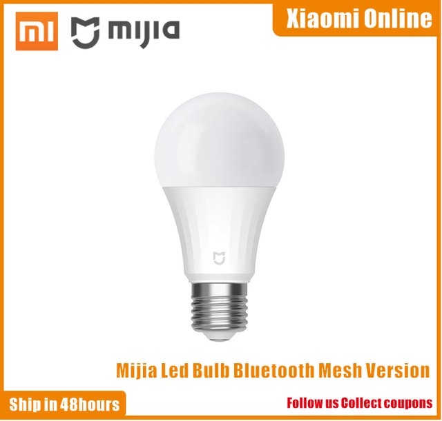 Newest Xiaomi Mi Intelligent Led Bulb Bluetooth Mesh Version Smart Lamp Controlled By Mijia App Voice Adjusted Color Temperature