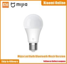 Новейшая интеллектуальная светодиодная лампа Xiaomi Mi с Bluetooth сеткой, Версия смарт лампы, управляемая приложением Mijia с регулируемой цветовой температурой
