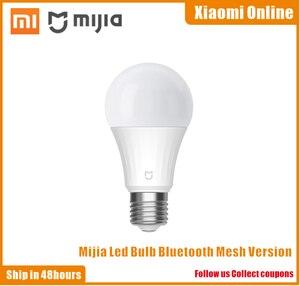 Image 1 - Xiaomi bombilla Led inteligente Mi, versión de malla, Bluetooth, lámpara inteligente controlada por la aplicación Mijia, ajuste de la temperatura del Color por voz