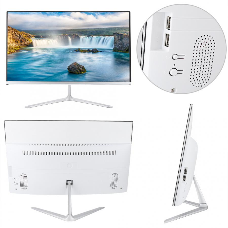 21.5inch All In One Computer Desktop For Process Office US 100-240V Desktop Computer All In One Desktop Computer