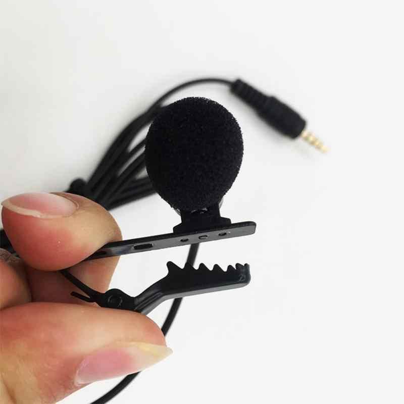 2/1 sztuk 3.5mm klip krawat kołnierz mikrofonem do telefonu komórkowego, że mogę przemawiać w wykład 1.5m uchwyt wokal Audio klapy mikrofony
