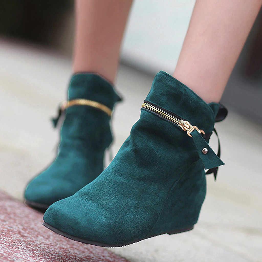 SAGACE 2019 nuevo botas para la nieve retro zapatos de cabeza de dentro botas de señoras occidental correas botas para mujeres