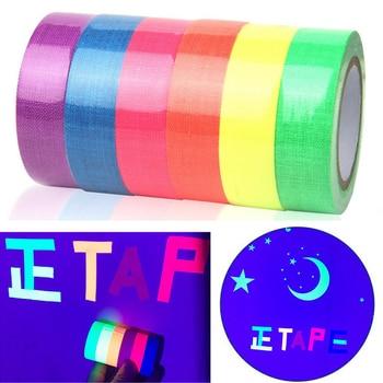 6Rolls/Set  Fluorescent UV Cotton Tape Matt High-gloss Luminous Purple Light Neon Cloth Adhesive Film Stage Magic Props - discount item  32% OFF Workplace Safety Supplies