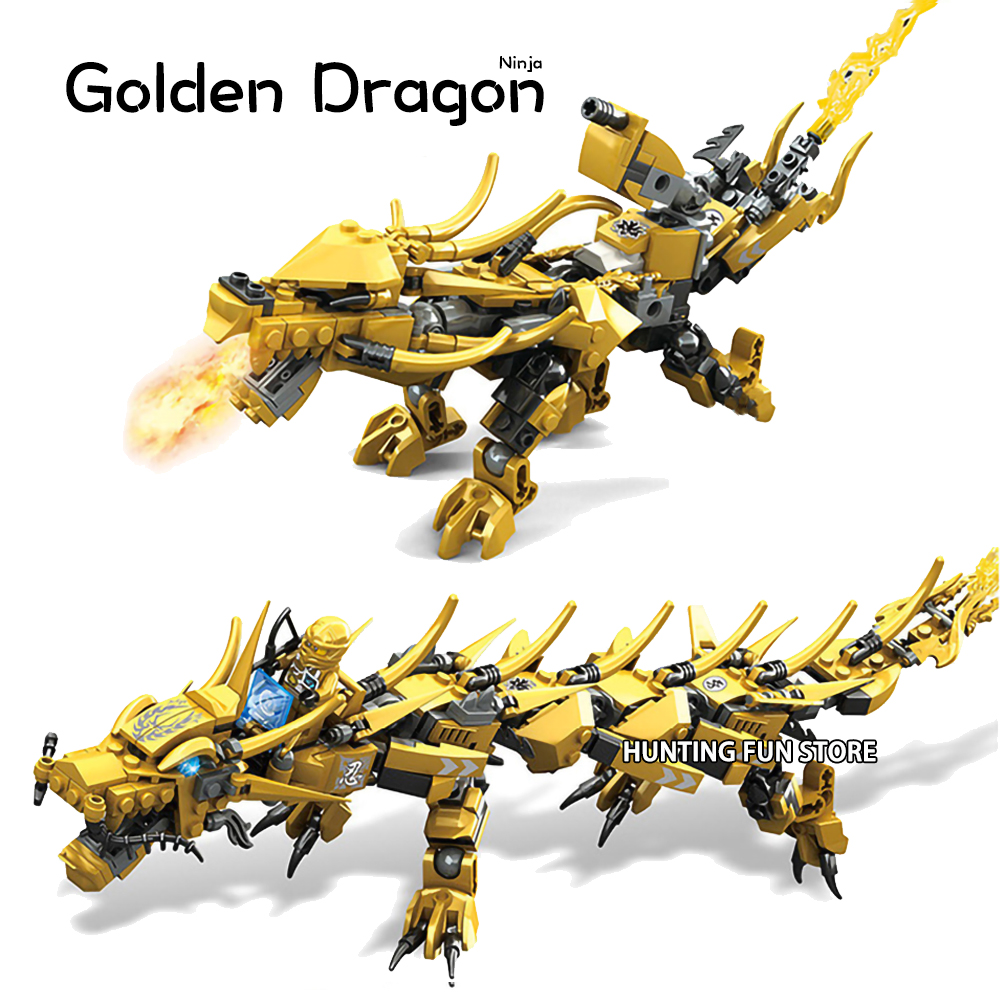 Compatible Ninjagoed Ninja Golden Dragon Mech Creator Dragon 2 In 1 Set DIY Educational Gift Building Blocks Toys For Children
