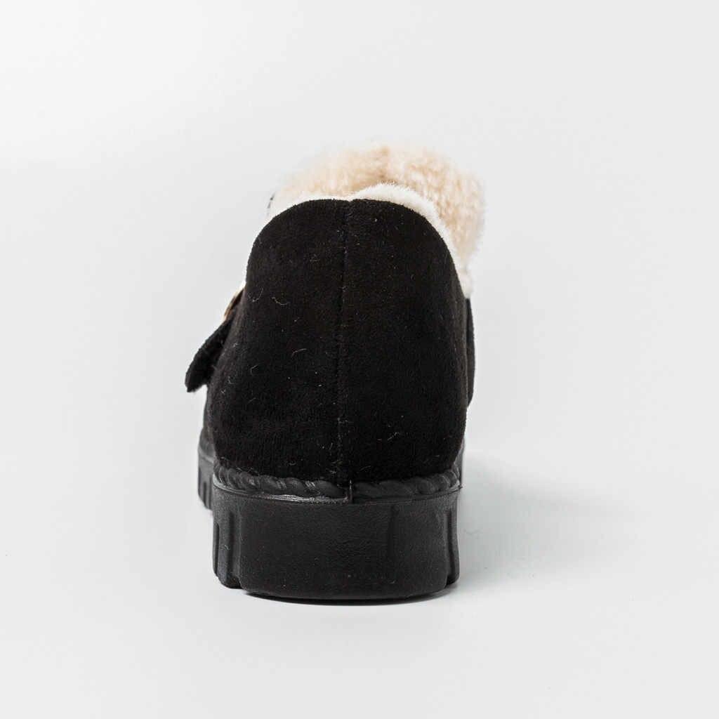 Kar Botları kadınlar Bayanlar Pamuk Sıcak Kürk Kalınlaşma Sıcak Kar Ayakkabıları kısa çizmeler Rahat Bayan Ayakkabıları