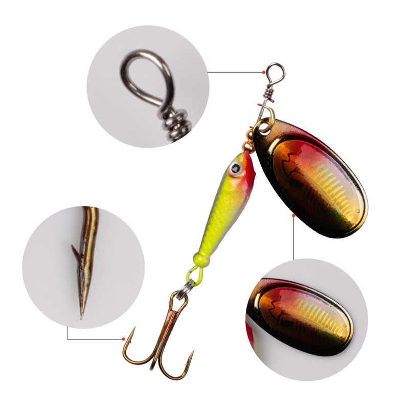 ตกปลา SPINNER เหยื่อ 9g ช้อนโลหะล่อเหยื่อ TREBLE Hook ประดิษฐ์ปลา Wobbler Feeder ปลาคาร์พ Fishing Lure