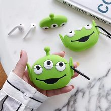 3D Earphone Case For Airpods Pro Case Silicone Stitch Dog Cartoon Headphone/Earpods Cover For Apple Air pods Pro 3 Case Keychain(China)