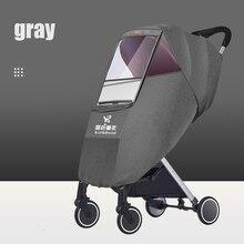 Bluechildhood באיכות גבוהה אוניברסלי Waterproof כיסוי גשם רוח אבק מגן מלא כיסוי מעיל גשם עבור תינוק עגלת