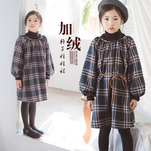 Girl Winter Dress Back To School Long Sleeve Velvet Teen Korean Kids Clothes Toddler Fall Autumn 4 5 6 7 8 9 10 11 12 13 14 Year girl hoodies clothing winter long sleeve fleece warm teen girls coat 10 11 12 13 14 15 16 8 5 years with hooded kid clothes