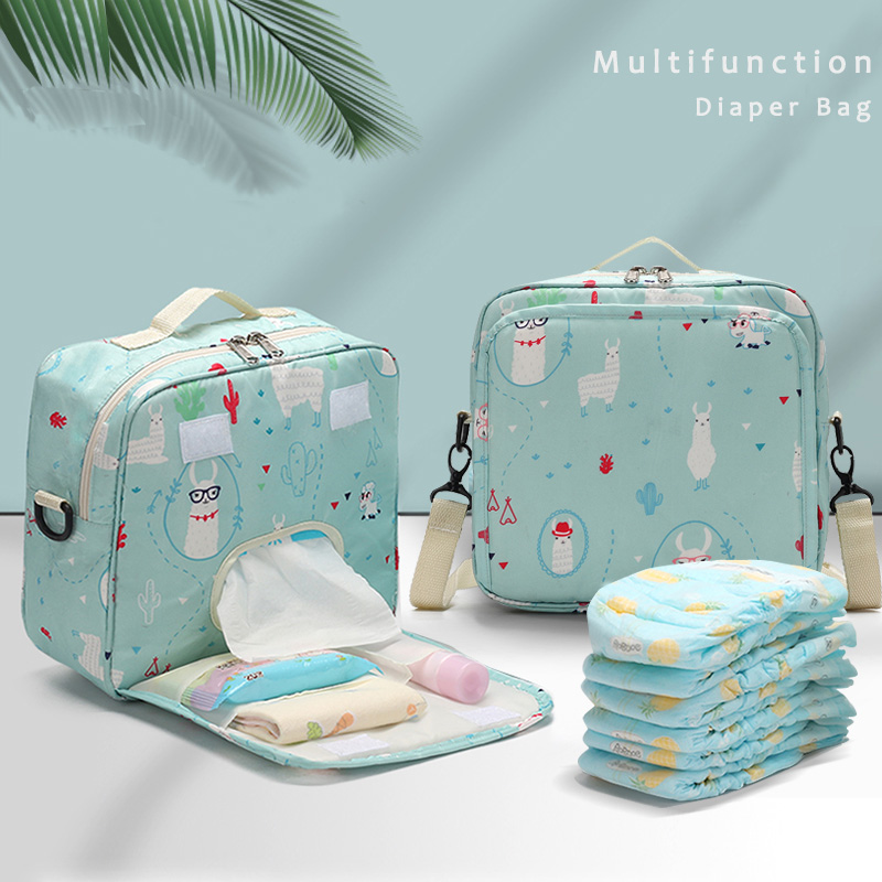 Diapers Bag Waterproof Mommy Bags Prints Wet Dry Nappy Organizer Travel Handbag Infant Supplies Storage Accessories