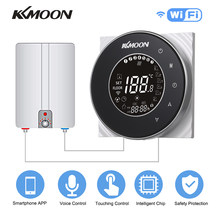 KKmoon Digital Water/Gas Boiler Heating Thermostat WiFi Voice Control Touchscreen LCD Display Room Temperature Controller(China)