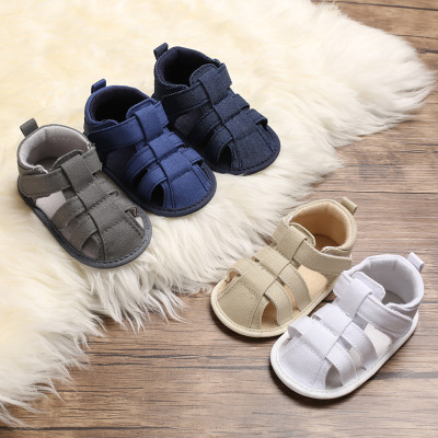 Fashion Summer Baby Male Baby 0-1 Years Old Package Foot Cotton Cloth Bottom Non-slip Magic Stickers Baby Toddler Shoes